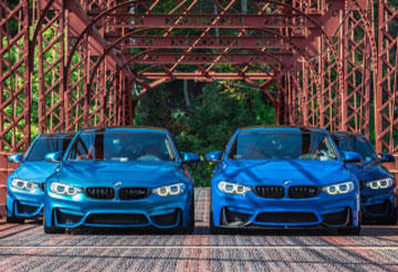 BWM M3 Abu Dhubi Blue color, just a look, can touch your heart...