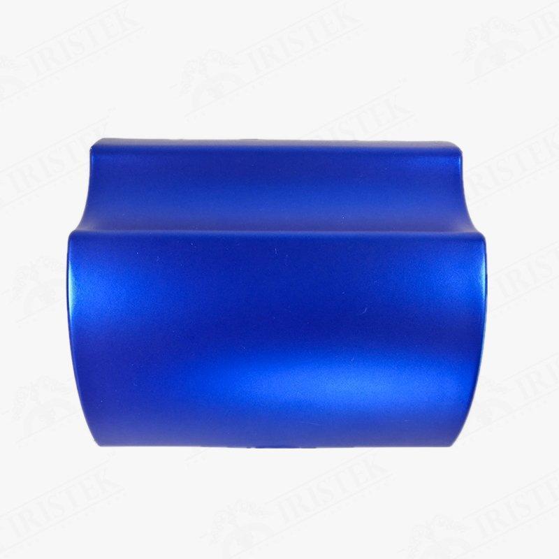 IRISTEK Satin Chrome Vinyl Ceramic Blue