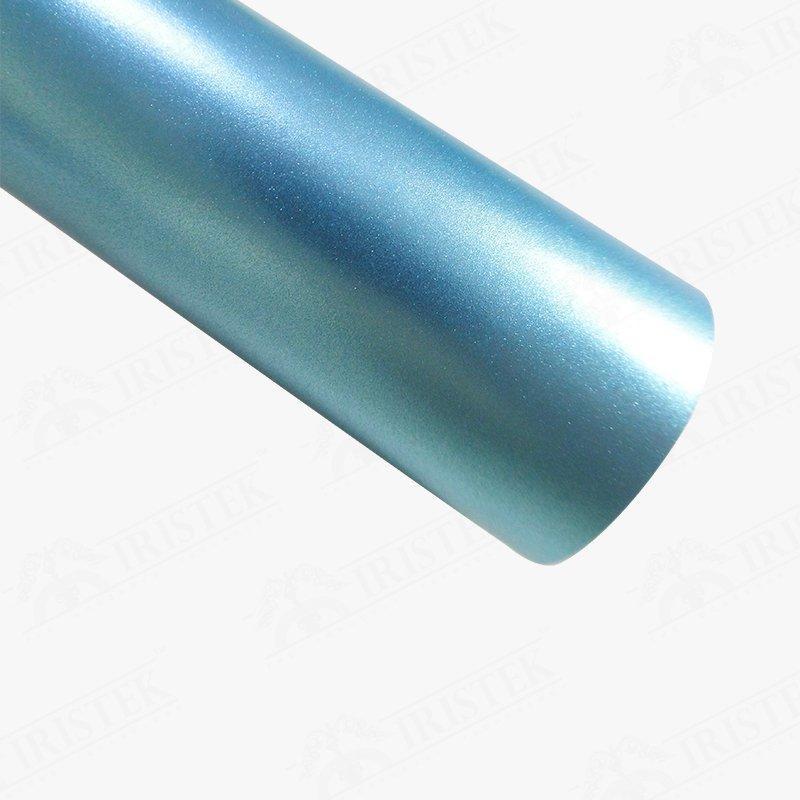 IRISTEK Satin Metallic Pearl Lake Blue Vinyl