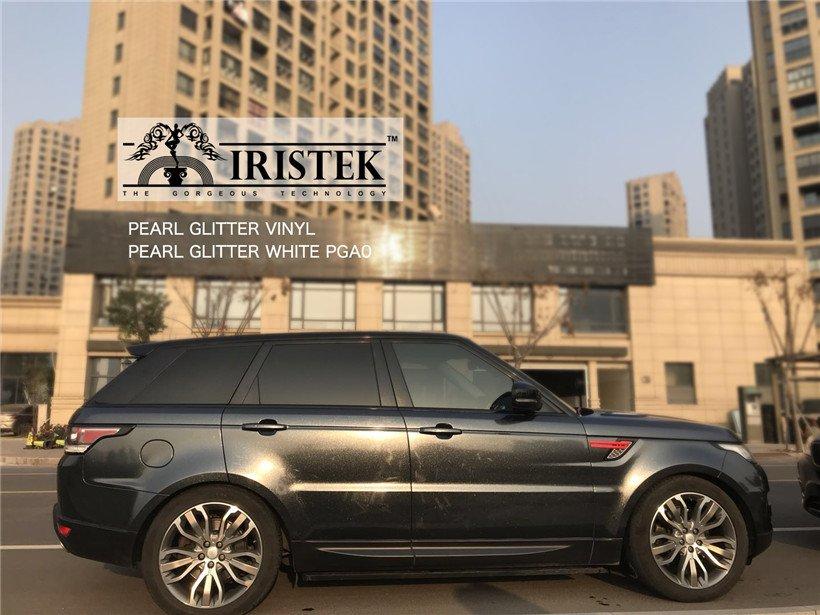 IRISTEK-Iristek Pearl Glitter Vinyl Black - Iristek Car Wrap Vinyl-7