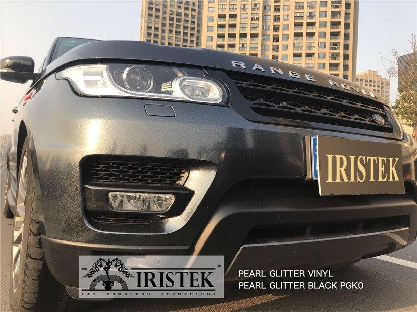 IRISTEK-Iristek Pearl Glitter Vinyl Black - Iristek Car Wrap Vinyl-8