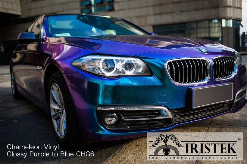 IRISTEK-Iristek Chameleon Vinyl Glossy Chameleon Purple To Blue - Iristek Car Wrap Vinyl-7