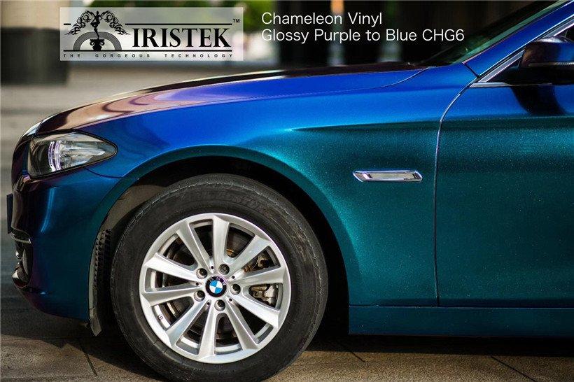 IRISTEK-Iristek Chameleon Vinyl Glossy Chameleon Purple To Blue - Iristek Car Wrap Vinyl-8