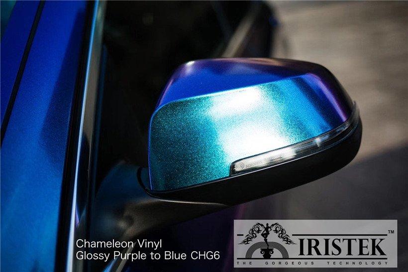 IRISTEK-Iristek Chameleon Vinyl Glossy Chameleon Purple To Blue - Iristek Car Wrap Vinyl-9
