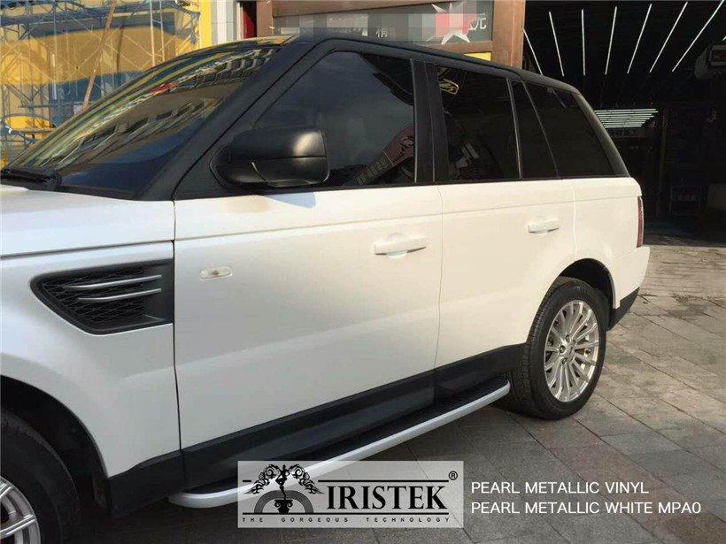 IRISTEK-Iristek Pearl Metallic White Vinyl | Pearl Metallic Vinyl | Iristek Car-9