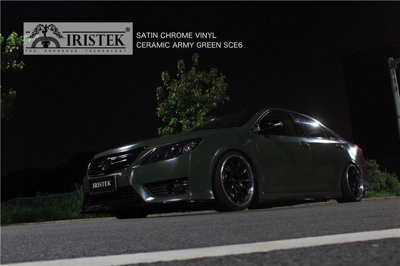 IRISTEK-Iristek Satin Chrome Vinyl Ceramic Army Green | Satin Chrome Vinyl | Iristek-7