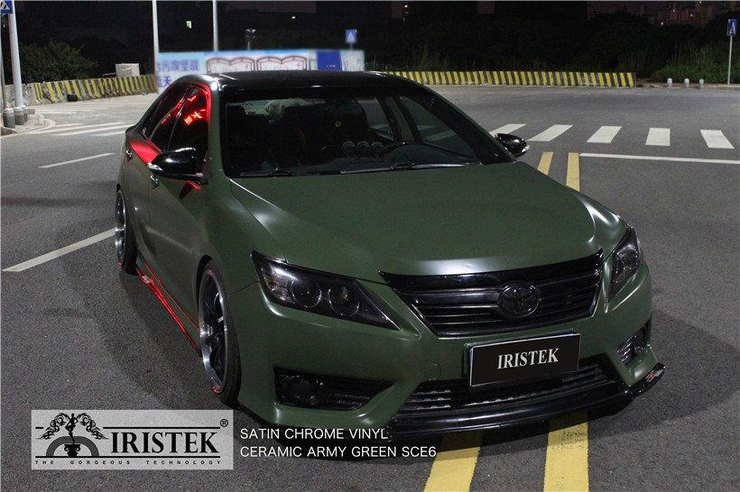 IRISTEK-Iristek Satin Chrome Vinyl Ceramic Army Green | Satin Chrome Vinyl | Iristek-8