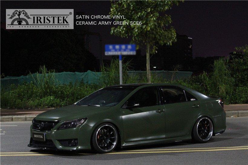 IRISTEK-Iristek Satin Chrome Vinyl Ceramic Army Green | Satin Chrome Vinyl | Iristek-9