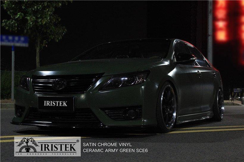 IRISTEK-Iristek Satin Chrome Vinyl Ceramic Army Green | Satin Chrome Vinyl | Iristek-10