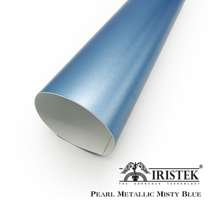 IRISTEK Satin Metallic Pearl Mist Blue Vinyl
