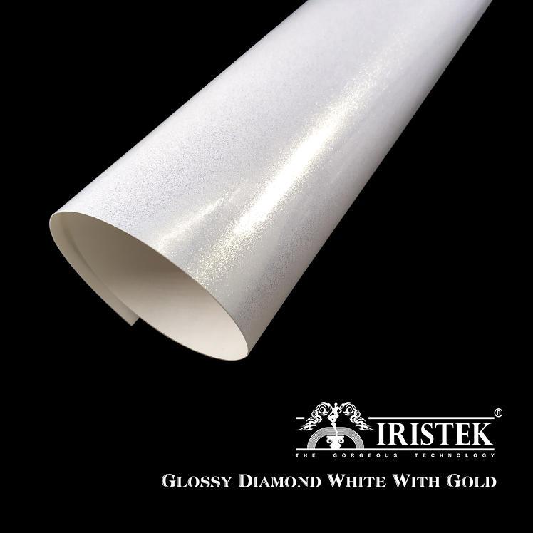 IRISTEK Diamond Vinyl Glossy Diamond White With Gold