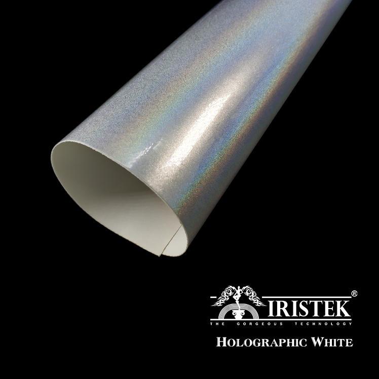 IRISTEK White Holographic Car Wrap Vinyl