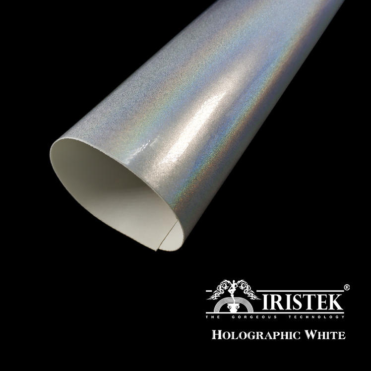 IRISTEK White Holographic Car Wrap Vinyl