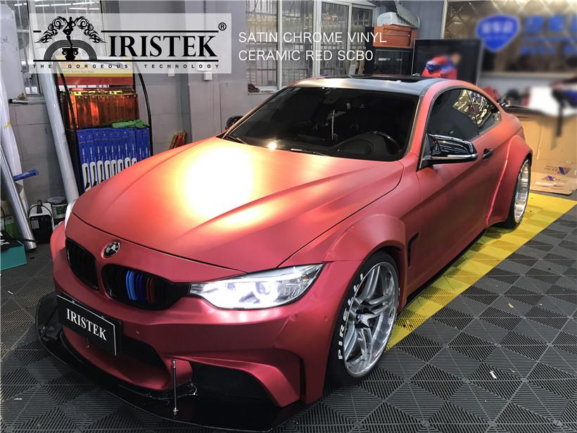 IRISTEK-High-quality satin silver chrome wrap red satin wrap silver chrome-8