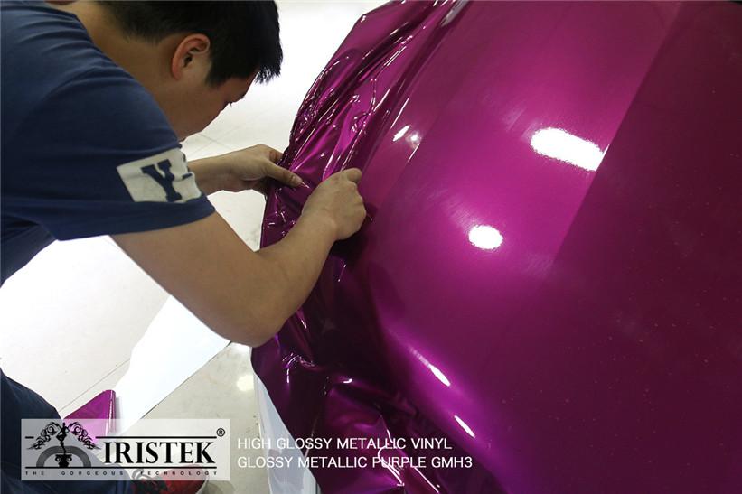 IRISTEK-Metallic Vinyl Wrap Iristek High Glossy Metallic Vinyl Purple-7