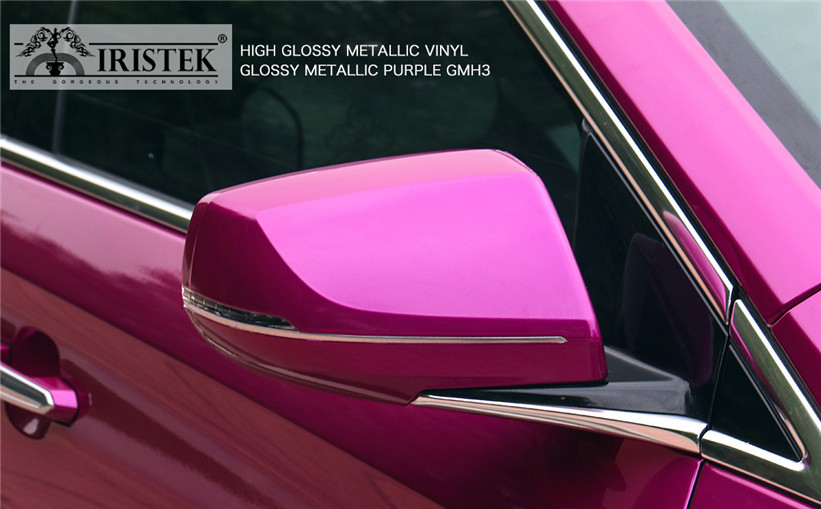 IRISTEK-Metallic Vinyl Wrap Iristek High Glossy Metallic Vinyl Purple-9