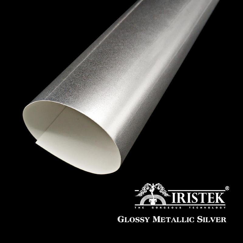 IRISTEK High Glossy Metallic Vinyl Silver