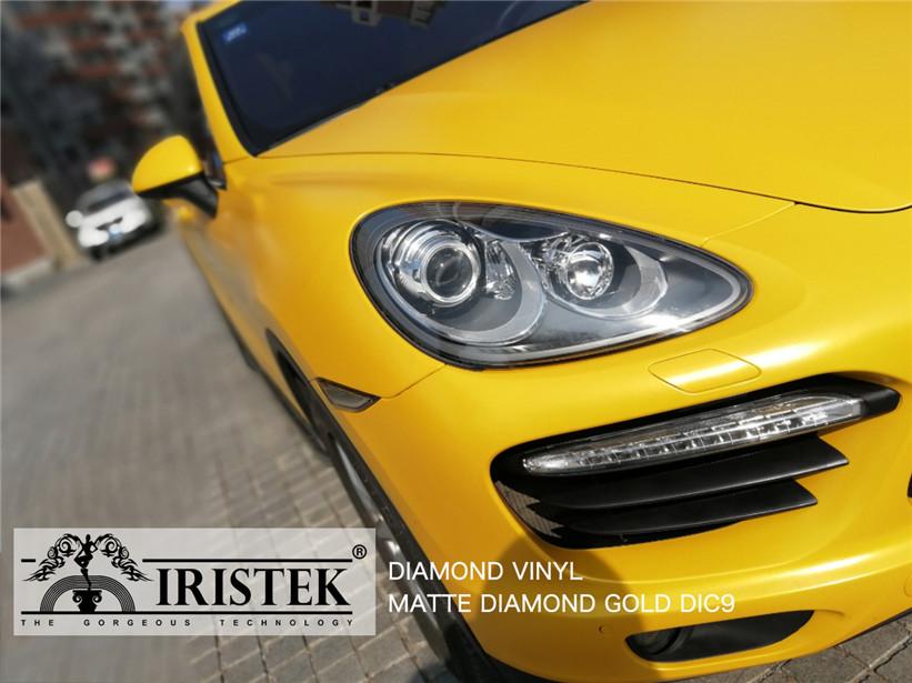 IRISTEK-Black Glitter Vinyl | Iristek Diamond Vinyl Matte Diamond Gold For Sale-7