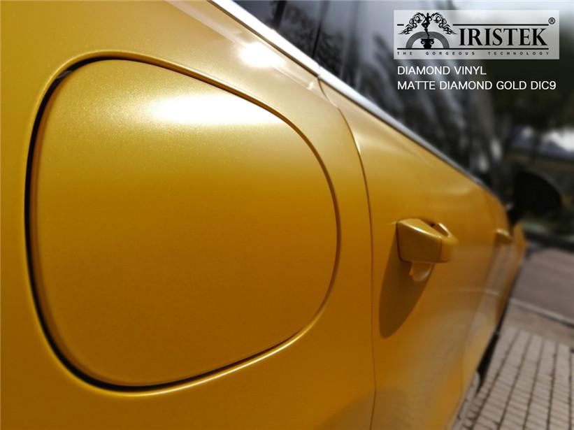 IRISTEK-Black Glitter Vinyl | Iristek Diamond Vinyl Matte Diamond Gold For Sale-9