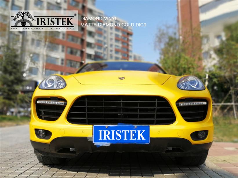 IRISTEK-Black Glitter Vinyl | Iristek Diamond Vinyl Matte Diamond Gold For Sale-11